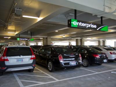 Enterprise car rental facility